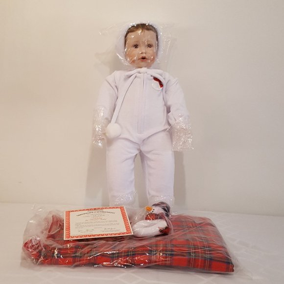 """""""Nicholas The Winter Baby"""" Porcelain Doll"""